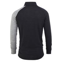 Geo Zip shirt merino wol – grijs