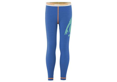 VOSSATASSAR Solid legging merino wol - mint/blauw