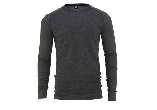 Bula Geo shirt merino wol – olijfgroen