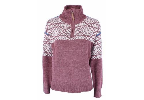 Vikafjell Vilter Sweater Wolmix Dames - Burgundy