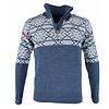 Vikafjell Vilter Sweater Wolmix Heren - Blauw