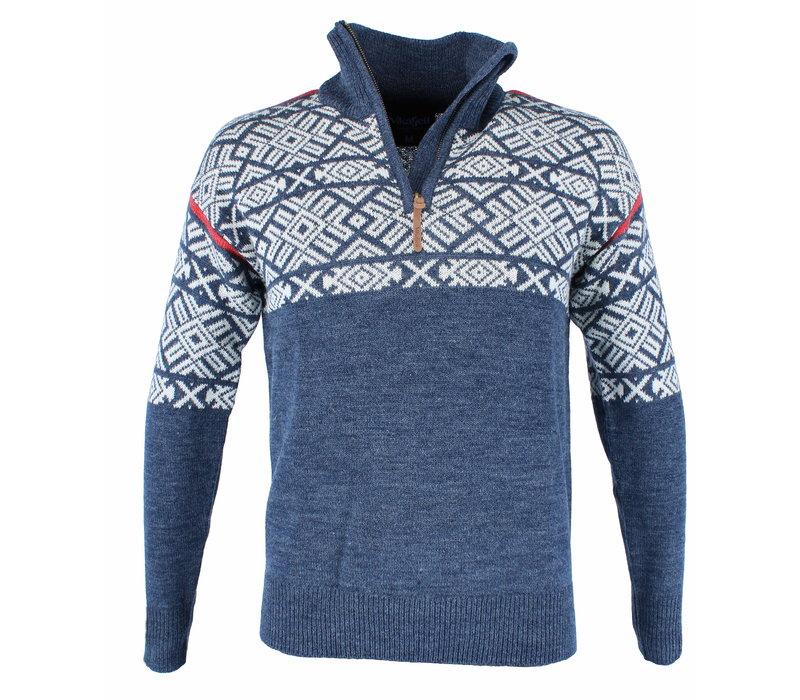 Vilter Sweater Wolmix Heren - Blauw