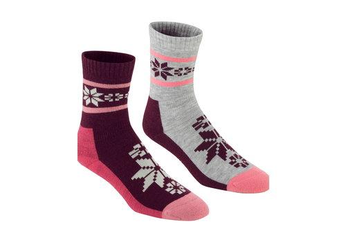 Bula Sokken Rusa Jam in wolmix (2 paar) - roze