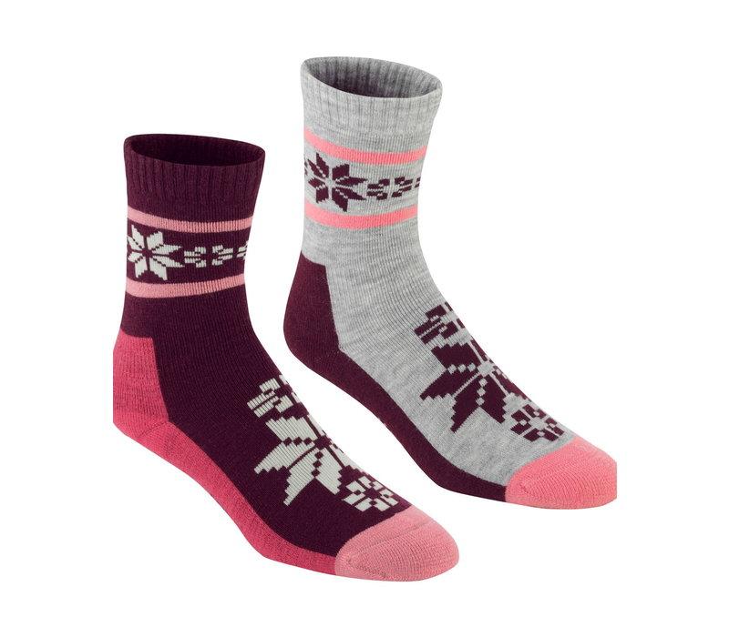 Sokken Vinst Jam in wolmix (2 paar) - roze