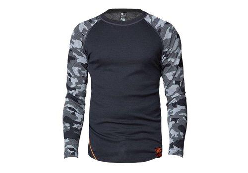 Bula Camo shirt merino wol – donkergrijs