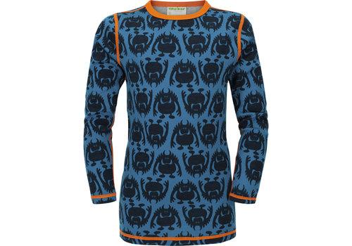VOSSATASSAR Monster shirt merino wol - ocean