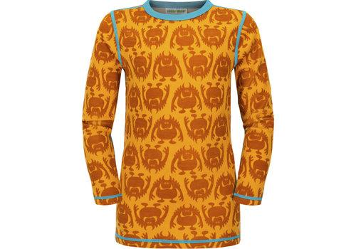 VOSSATASSAR Monster shirt merino wol - spice