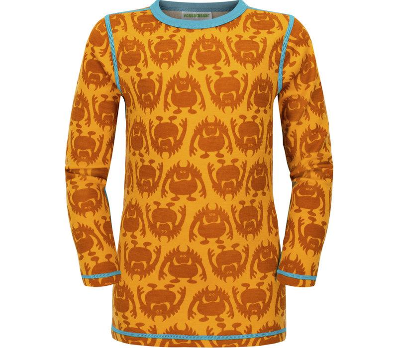 Monster shirt merino wol - spice