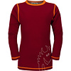 VOSSATASSAR Solid shirt merino wol - chili