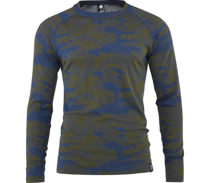 Camo shirt merino wol – denim