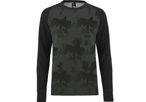Bula Freeride shirt merino wol - olijfgroen