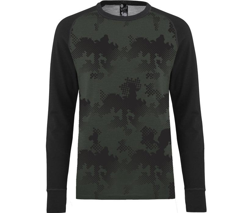 Freeride shirt merino wol - olijfgroen
