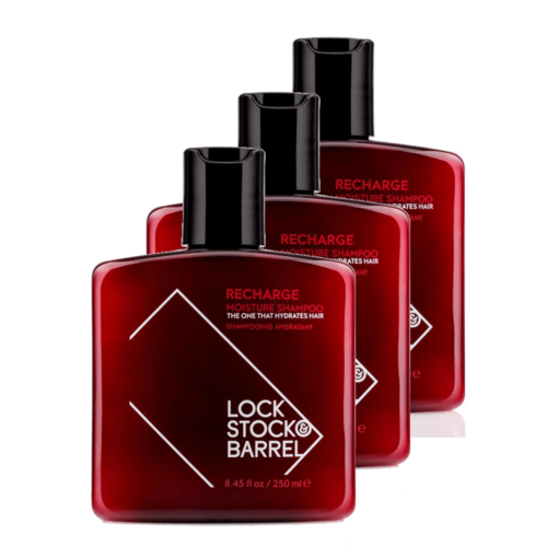 Lock, Stock & Barrel Recharge Moisture Shampoo 3-pack