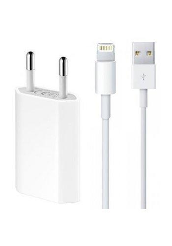 Combi: Apple USB Lightning oplaadkabel + adapter iPhone / iPad