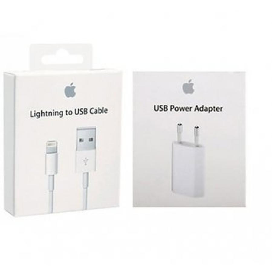 Combi: Apple USB Lightning oplaadkabel + adapter iPhone / iPad-2