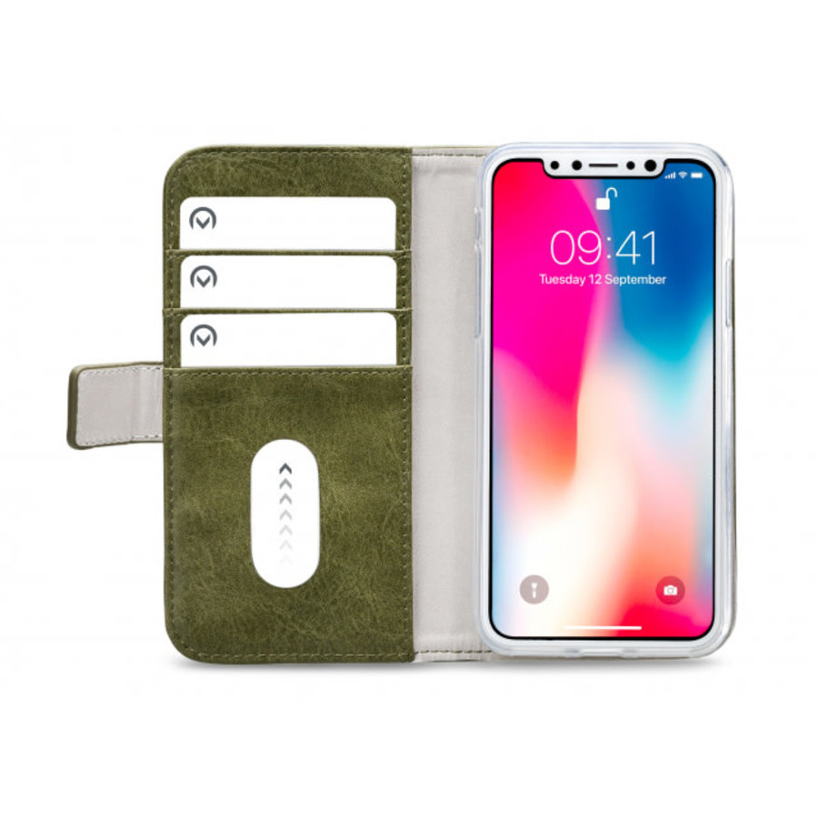 Mobilize Elite Gelly Wallet Book Case Apple iPhone Xs Max Green-3