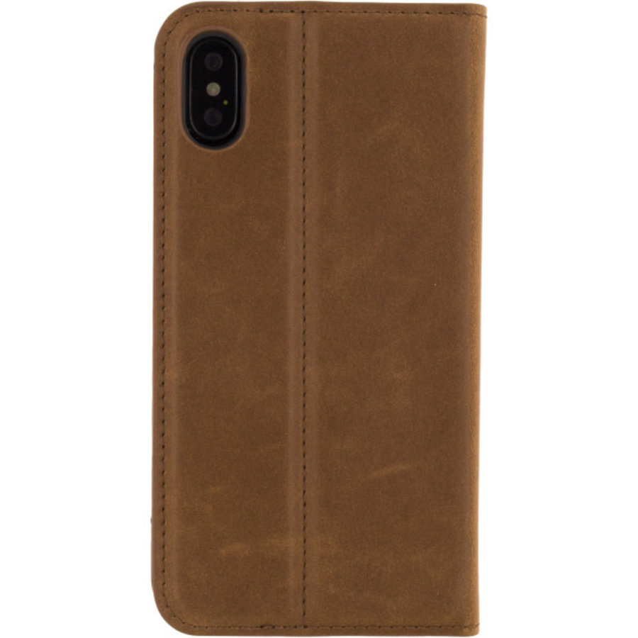 Mobilize Premium Gelly Book Case Apple iPhone X/Xs Brown-2