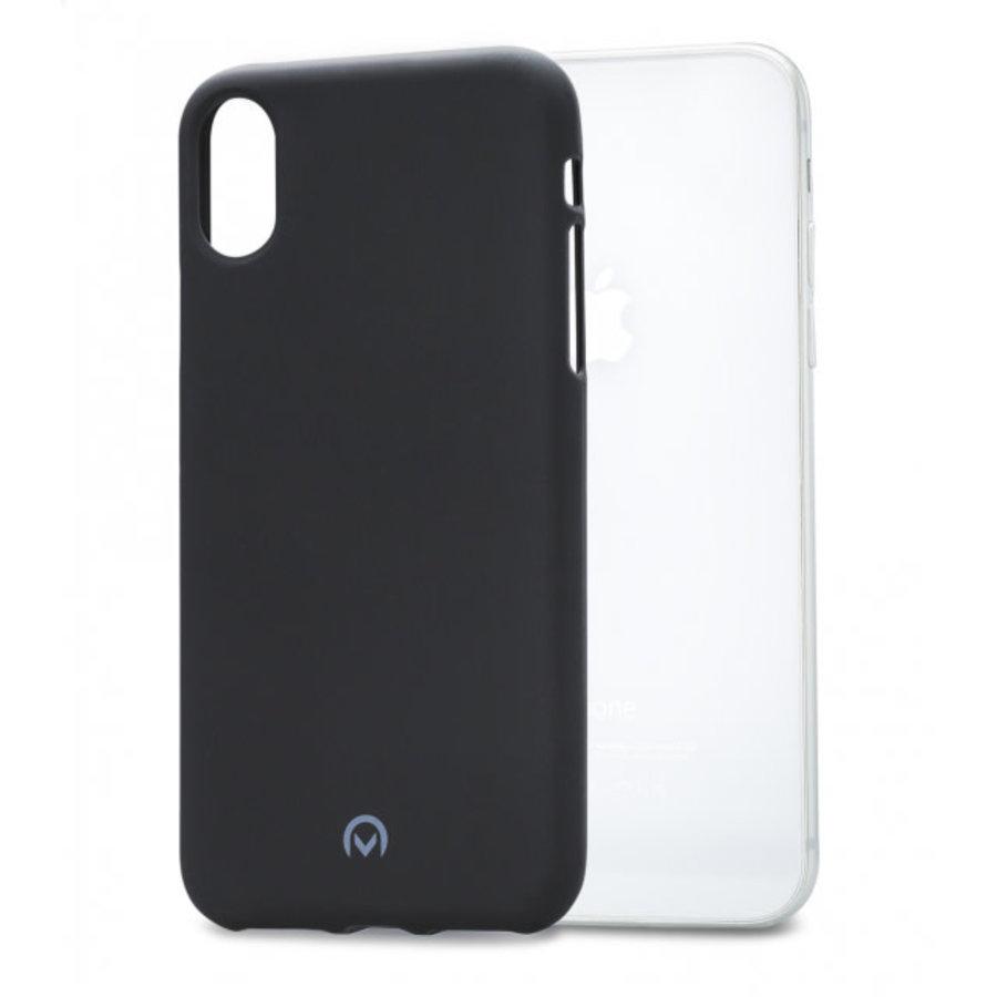 Mobilize Rubber Gelly Case Apple iPhone X/Xs Matt Black-1