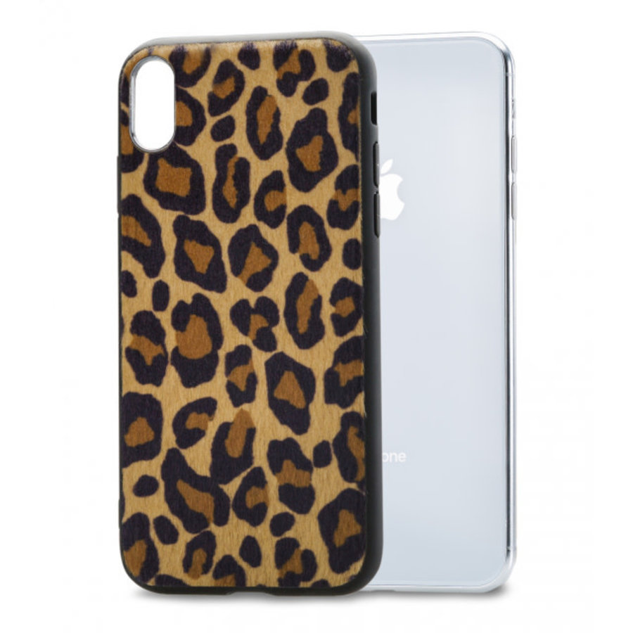 Mobilize Gelly Case Apple iPhone X/Xs Brown Leopard-1