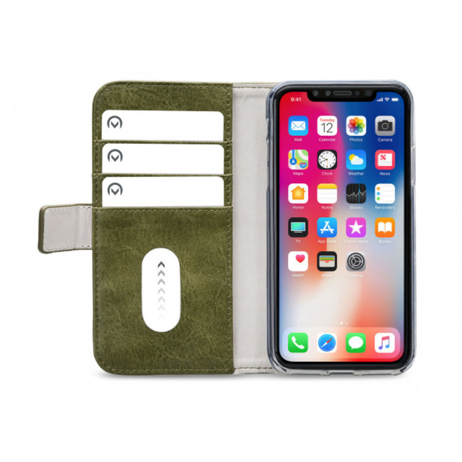 Mobilize Elite Gelly Wallet Book Case Apple iPhone XR Green-3