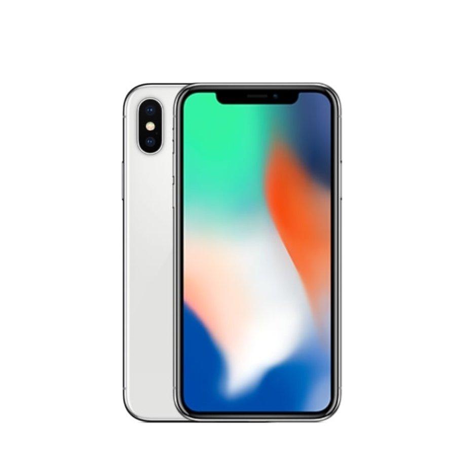 Apple iPhone X - 64GB - Silver - Zeer goed (marge)-1