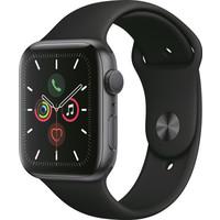 thumb-Apple Watch Series 5 (44mm) aluminium, sportbandje Grijs (Zwart)-2
