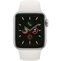 thumb-Apple Watch Series 5 (44mm) aluminium, sportbandje Zilver (Wit) - marge-1
