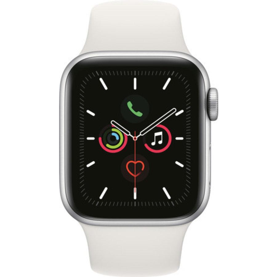 Apple Watch Series 5 (44mm) aluminium, sportbandje Zilver (Wit) - marge-1