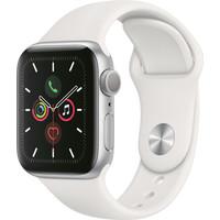 thumb-Apple Watch Series 5 (44mm) aluminium, sportbandje Zilver (Wit) - marge-2