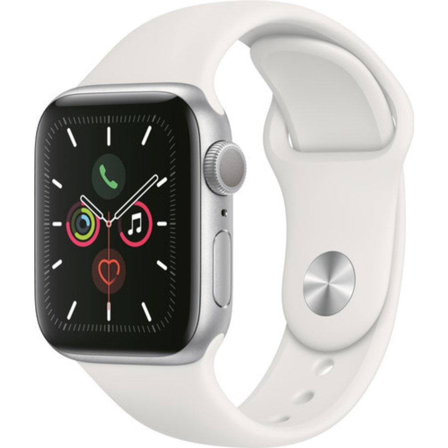 Apple Watch Series 5 (44mm) aluminium, sportbandje Zilver (Wit) - marge-2