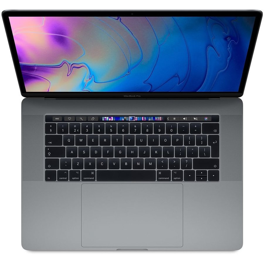 Apple Macbook Pro Touch bar 15'' - 2.6GHz 16GB/512GB SSD i7 6-core  - Space gray - Als nieuw - 2018 - (marge)-1