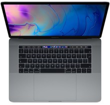 Apple MacBook Pro 15.4 Inch Touch Bar 2.8/256GB -  Space Gray - Als Nieuw - 2017 (marge)