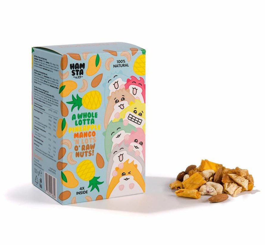 Hofman's Noten & Gedroogd Fruit Gezinspak, Hamsta World Editie. (4 Zakjes)