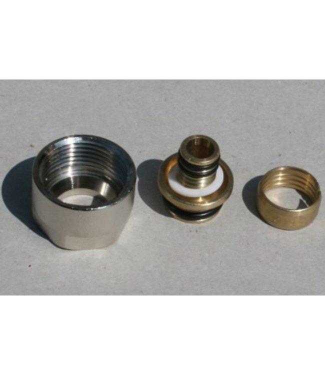 "WEM  Eurokonus, schroefverbinding, 16mm, R3/4"", 2 stuks"