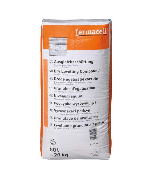 Fermacell Estrich Droge Egalisatiekorrels, 0-4mm, zak 50 liter
