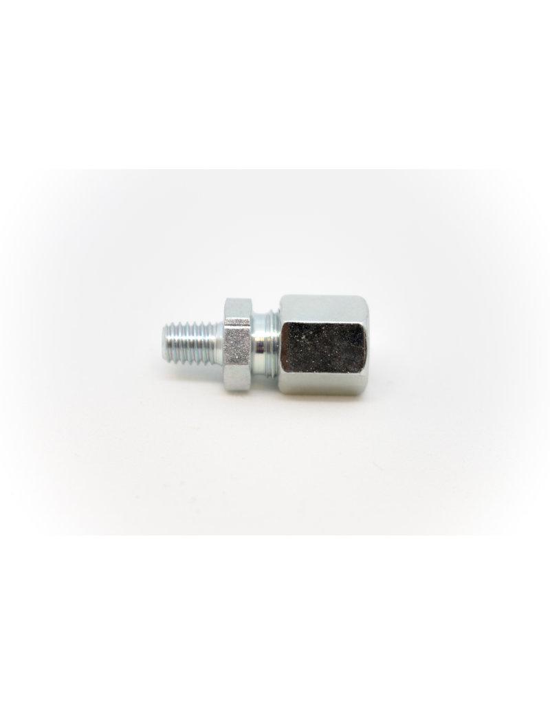 inschroefkoppeling recht RVS voor 6mm leiding/pilaar