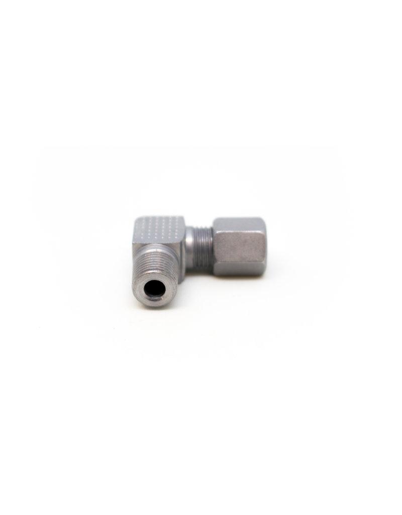 inschroefkoppeling RVS voor 6 mm leiding