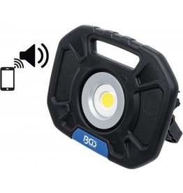 BGS COB-LED-werkspotlamp 40W-speakers 5W