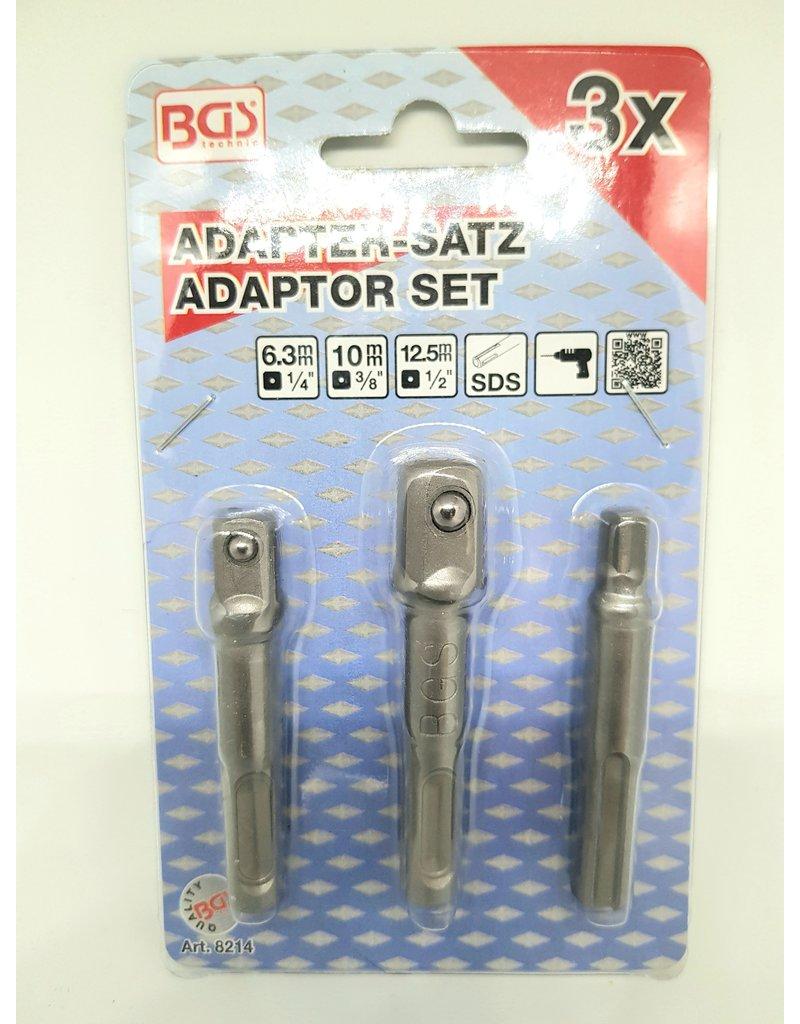 BGS Doppen adapterset 3 delig voor SDS boormachine
