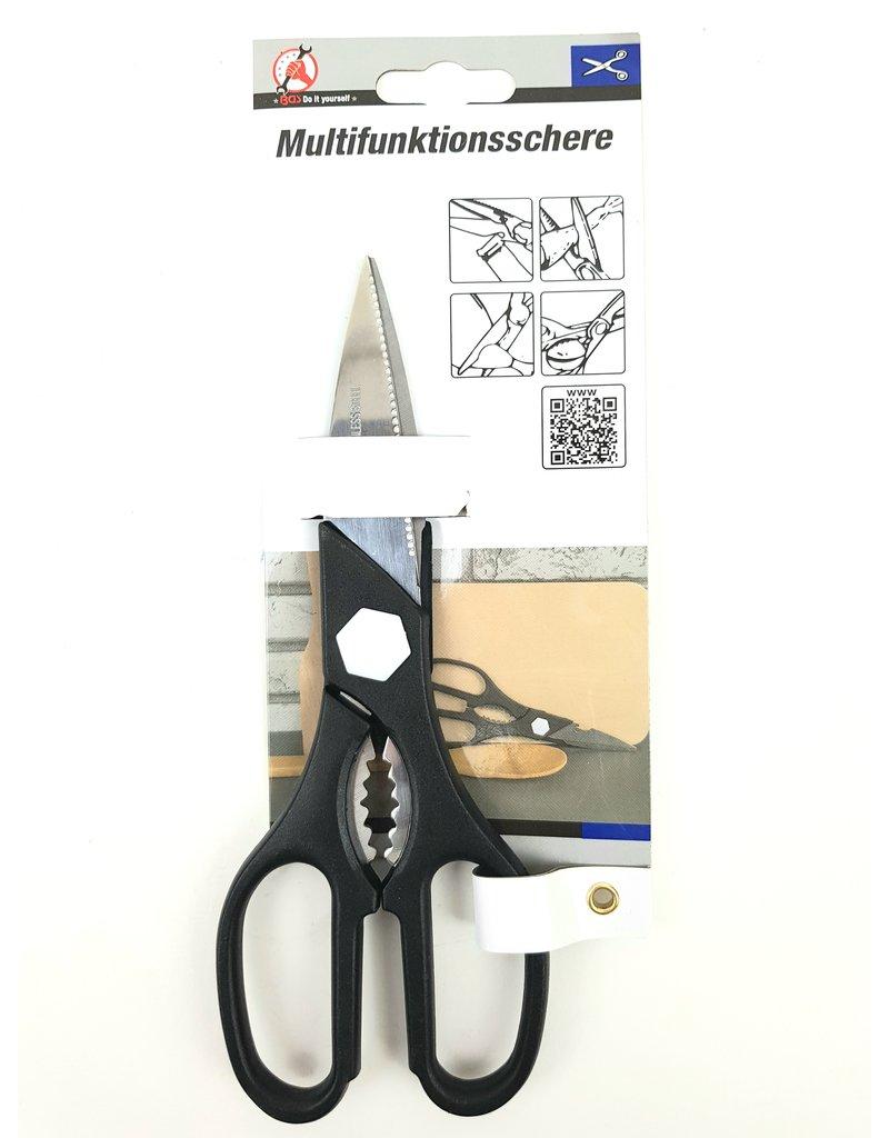 BGS Multifunctionele RVS schaar | Notenkraker | Flessenopener | Huishoudschaar