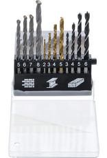 BGS Combinatie boren set - Houtboren - Steenboren - Metaalboren set HSS Titanium - 2mm - 8mm