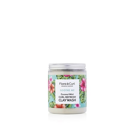 Flora & Curl Coconut Mint Curl Refresh Clay Wash 260gr