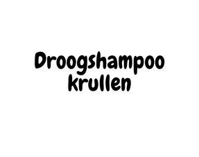 Droogshampoo krullen