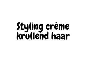 Styling crème krullend haar