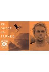 "DAKINE John John Florence Kainui  7'x 1/4"" Surf Leash  Black/Orange"