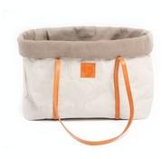 2.8 Design for dogs 2.8 Design für Hunde Annie Hundetasche Baumwolle Grau