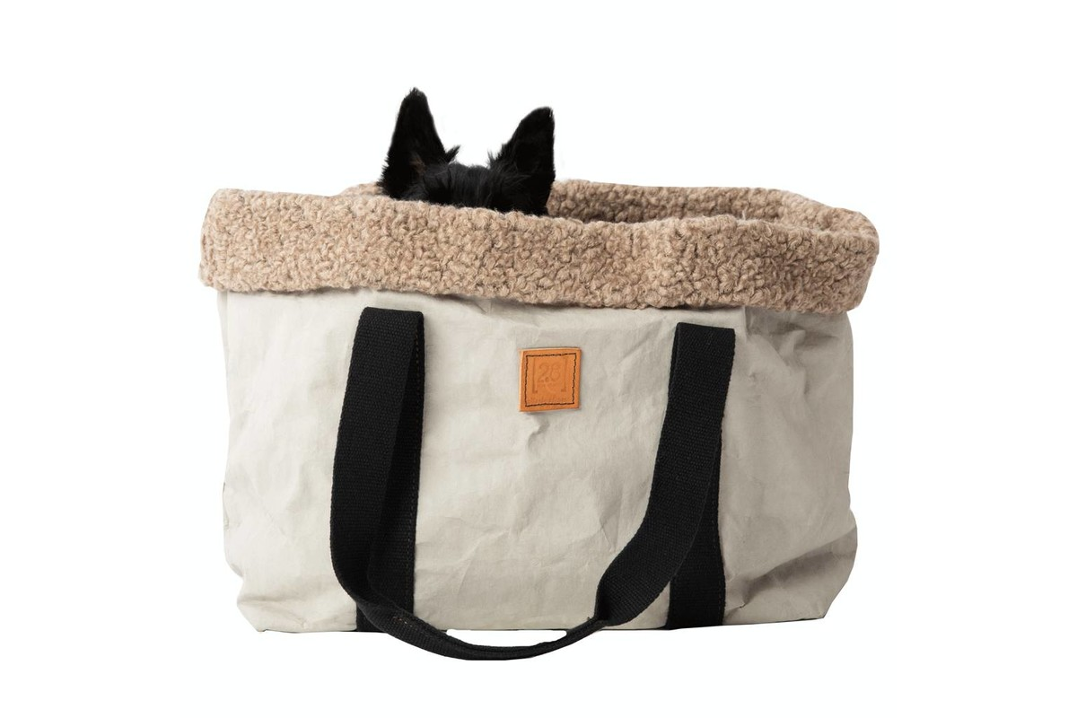 2.8 Design für Hunde Dorothea Hundetragetasche Wolle – Grau