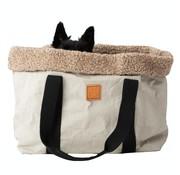 Duepontootto Duepuntootto Dorothea Dog bag gray wool
