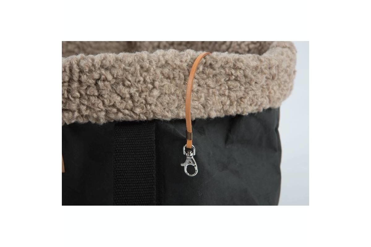 2.8 Design für Hunde Dorothea Hundetragetasche Wolle – Schwarz