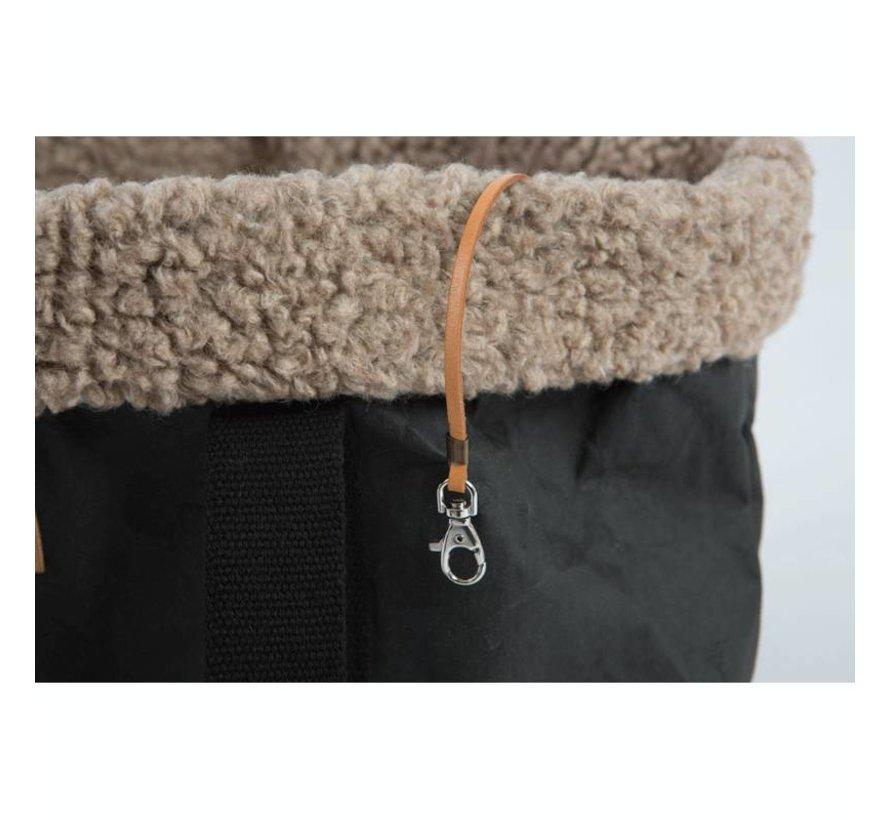 Duepuntootto Dorothea Hondentas zwart wol